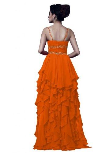Sunvary in Chiffon, lunga, taglia Gowns formale Spaghetti Orange
