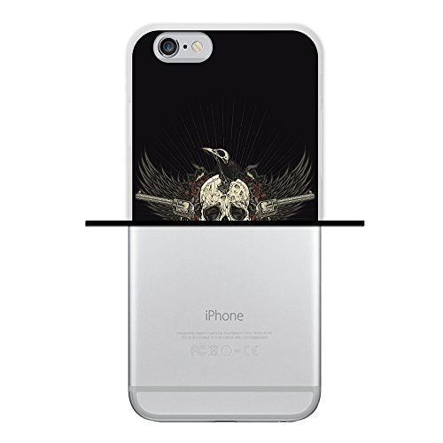 iPhone 6 6S Hülle, WoowCase Handyhülle Silikon für [ iPhone 6 6S ] Schwarzer zuckeriger Totenkopf Handytasche Handy Cover Case Schutzhülle Flexible TPU - Schwarz Housse Gel iPhone 6 6S Transparent D0056