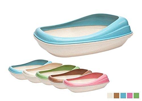 Toilette con bordo BecoTray - Lettiera ecologica aperta per gatti, in fibra vegetale, in più colorazioni (Naturale)