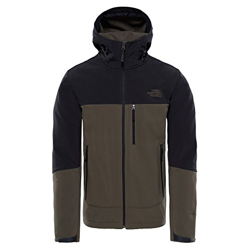 THE NORTH FACE Apex Bionic Hoodie Softshelljacke Black/Taupe - Apex North Herren Jacke Face