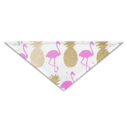 Rghkjlp Ananas und Flamingo-Haustier-Schal, Hund Bandana, Hundehalsbänder, Dreieck Halstuch, Welpen-Dreieck, Dreieck Lätzchen Schals für Hunde & Katzen