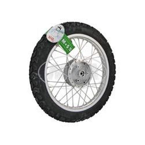 Preisvergleich Produktbild Komplettrad - VORNE - Winter- 1,5x16 Zoll Alufelge, poliert - Edelstahlspeichen, mit Heidenau-Reifen K42 montiert
