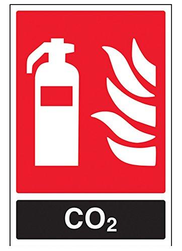 vsafety 11030au-s Feuerlöscher Schild, CO2ID, selbstklebend, Portrait, 200mm x 300mm, schwarz/rot