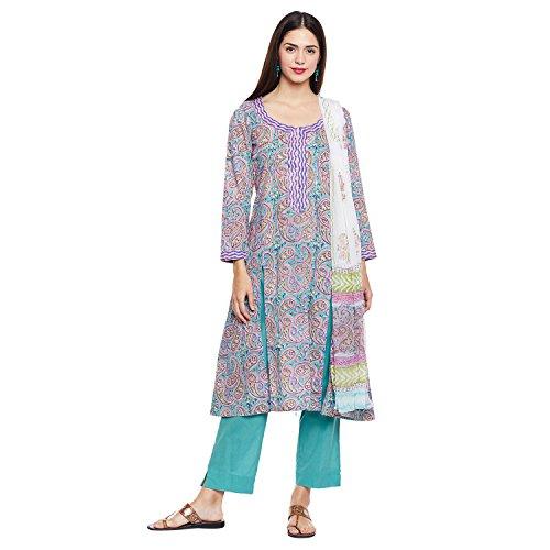 Pinkshink Blue Pure Cotton Salwar Kameez Dress Material k235