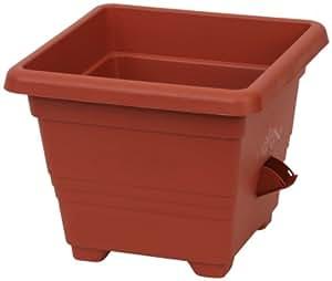 Plastia – pot à réserve d'eau Bergamot 30 x 30 cm, terracotta