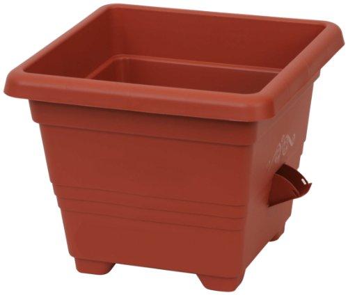 Plastia – pot à réserve d'eau Bergamot 25 x 25 cm, terracotta