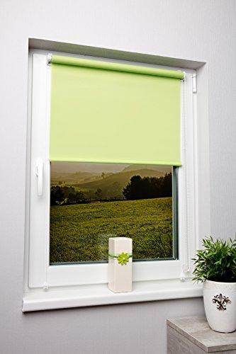 luce-diurna-vista-protezione-rollo-verde-avocado-traslucido-diverse-misure-senza-viti-con-cordino-la