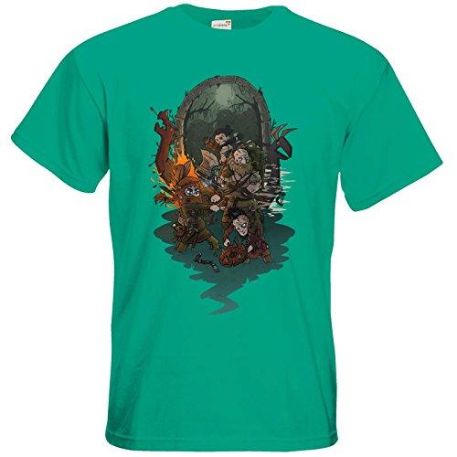 getshirts - Rocket Beans TV Official Merchandising - T-Shirt - Beards 5 Pacific Green