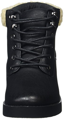 New Look Damen Bear Shearling Kurzschaft Stiefel Black (black/01)