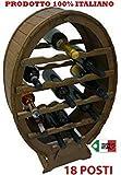Cantinetta porta bottiglia in legno botte 18 POSTI