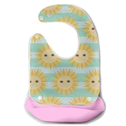 Bavaglini impermeabili per bambini Cartoon Sun Smilie Kawaii Bavaglino per gatti gonfiabili in silicone per il viso Asciugamani per neonati Bavaglino per bambini bavaglini Bib Dover