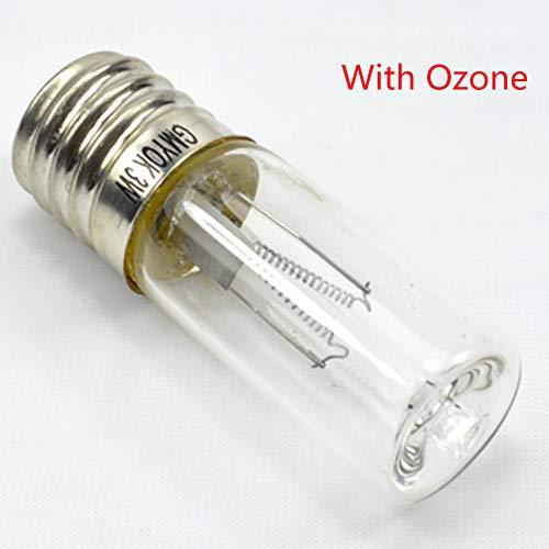 Ghair2 E17 UVC UVC UV-Lampe, 3 W Desinfektionslampe, Ozonsterilisation Milben, Keimtötende Lampen für den Heimgebrauch, Ersatz für Ozonsterilisierende keimtötende Quarzlampe, with Ozone, Free Size -