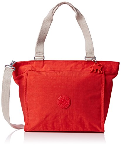 Kipling Damen New Shopper Small Schultertaschen, Rot (Coral Rose Combo 05W), 42x27x13 cm (Rot-combo-schuhe)
