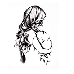Idea Regalo - JUSTFOX – Tatuaggio temporaneo mamma con bambino amore design Temporary Klebetattoo Corpo Arte