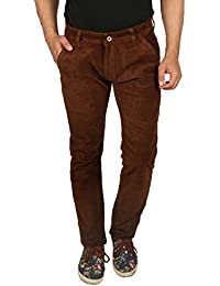 Nimegh Cod Brown Colored Corduroy Casual Solid Trouser For Men's