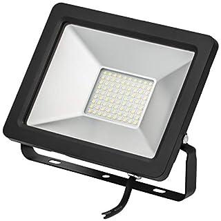 SMD LED Fluter Flutlicht-Strahler Kompakt, 30W 2450 Lumen, Auch 10W 20W 50W Erhältlich, Energieklasse A++, Aluminium-Gehäuse, Schwarz, Außenstrahler Und Innenstrahler