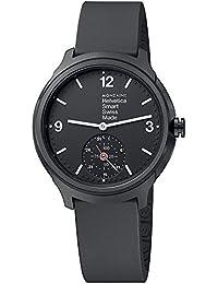 Mondaine Helvetica Smart 44mm MH1.B2S20.RB Reloj de pulsera Cuarzo Hombre correa de Silicona Negro