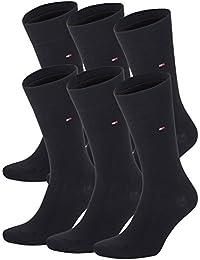 Tommy Hilfiger Lot de 6 paires de chaussettes pour homme Noir noir 43-46
