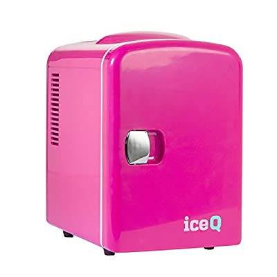 iceQ 4 Litre Small Mini Fridge Cooler - Pink