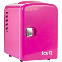 iceQ 4 Litre Small Mini Fridge Cooler - Pink