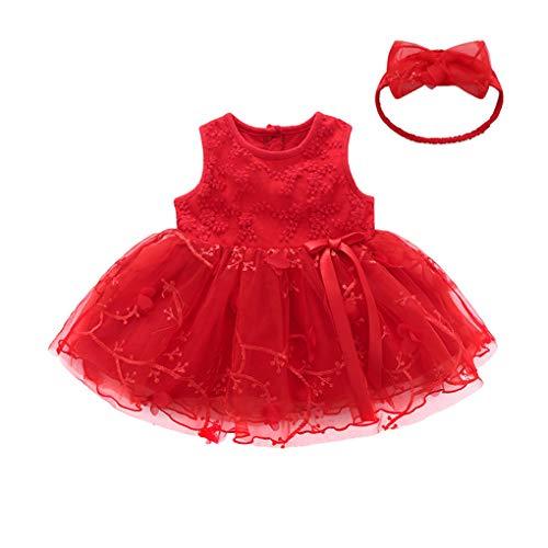 UFODB Abendkleider Knielang Elegant Für Hochzeit, Mädchen Prinzessin Kleid Verrücktes Partei Kostüm Kleider Sommerkleid Blume Partykleid Festzug ()