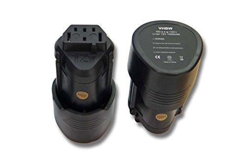 Galleria fotografica vhbw 2x Li-Ion Batteria 1500mAh (12V) per apparecchi AEG BLL12C, BS12C, BS12C2, BSS12C, BWS12, BWS12CBWS come 3520, 3526, 4932, 584932, 954932, L1215.