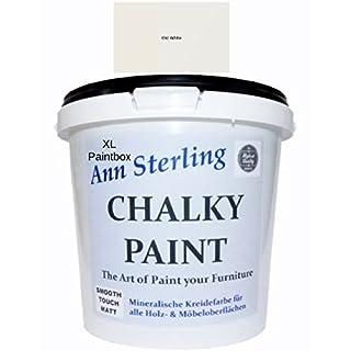 XL 5Kg. Ann Sterling Kreidefarbe Shabby Chic Farbe: Chalky Oldwhite / Altweiß 5Kg. Lack Chalky Paint