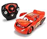 Majorette - Cars 3 - Voiture Radiocommandée - Flash MC Queen - Fonctions Crash et Turbo - 1/24