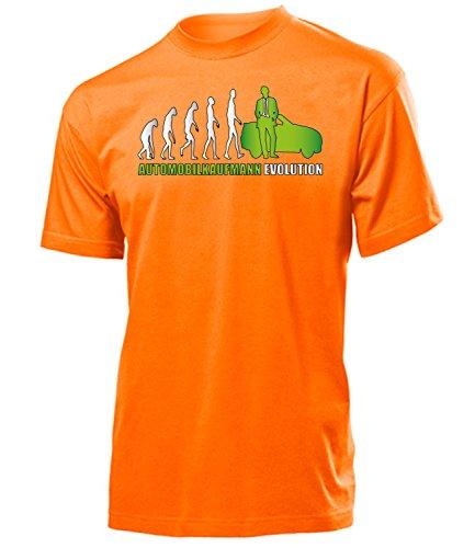 Automobilkaufmann EVOLUTION 5902 Herren T-Shirt (H-ORA-Weiss-Grün) Gr. XXL
