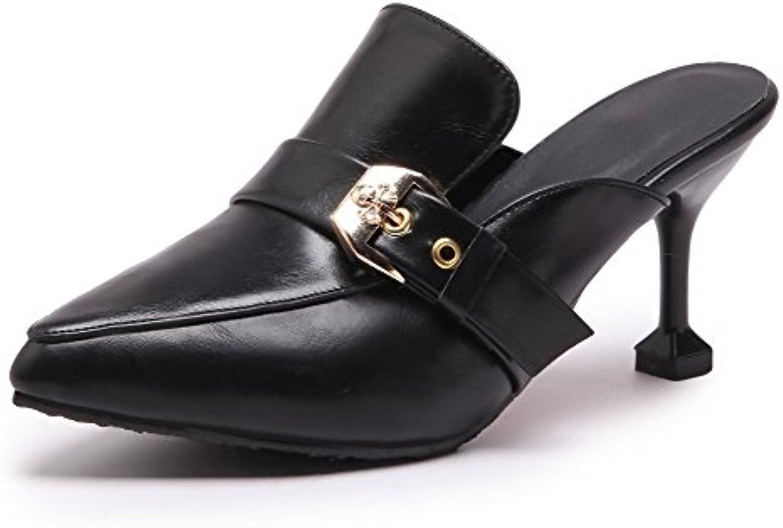 ZPL Mujer Punta Puntiaguda Zapatos Slingback Talones Estilete Ponerse Corte Zapatillas Sandalias Zapatillas Vestir...