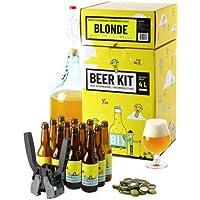 Kit de Brassage Intermédiaire Complet, Je Brasse et j'embouteille 4 litres de bière - Idée Cadeau 100% expérience…