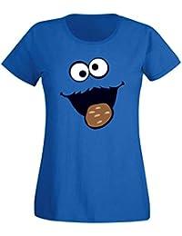 T-Shirt Krümelmonster Kekse Karneval Fasching Kostüm Sesamstraße Damen XS -  3XL Verkleidung Gruppen- 87dec3fb2d