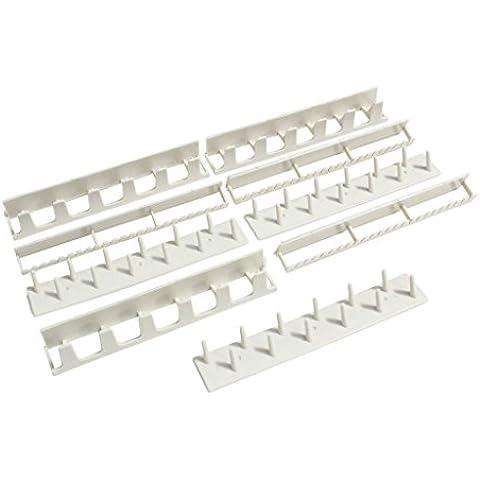 Kurtzy TM Pack de 9 Organizadores Colgantes de Plástico para Joyería Gancho para Estantes Pegar sin