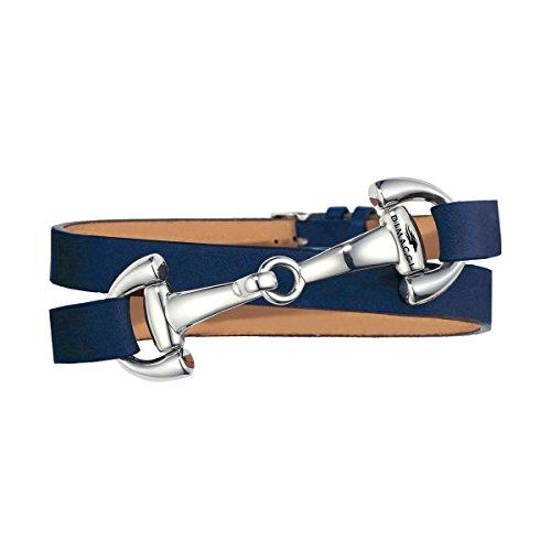 Trensen-Armband | DIMACCI | Favorit Kollektion | Schmuck für Reiterinnen | Geschenkidee für Pferdeliebhaber | Reiter-Schmuck (Blau, Edelstahl)