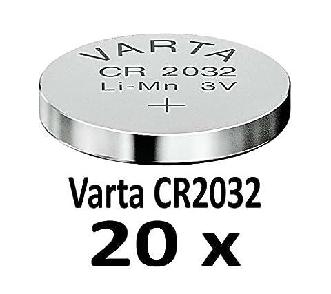 10 - 1000 Stk. (20 Stück) Variante frei wählbar Varta 2032 Knopfzelle im NEMT Pack