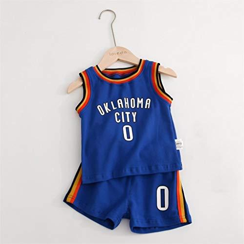 CHUANG Sport Baby Kids Set - Jersey # 0 号 - Blau/Boy und Girl Basketball Fans