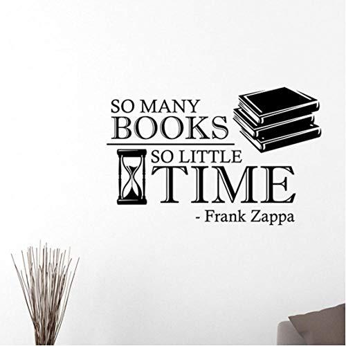 So viele Bücher Inspirierend Zitat Wandtattoo Lesebuch Vinyl Aufkleber Kunst Home Interior Zimmer Schule Bibliothek Dekor 65X42 Cm - Inspirierende Zitate Buch