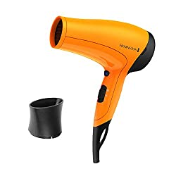 Remington Ionic Ceramic Hair Dryer with Cool Shot, Orange, D3015