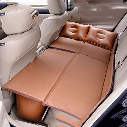 MUTANG Colchón de Aire Inflable para Viaje en automóvil Asiento Trasero - Zone Tech Cama de automóvil Asiento Trasero con colchón de Aire Inflable con 2 Almohadas de Aire