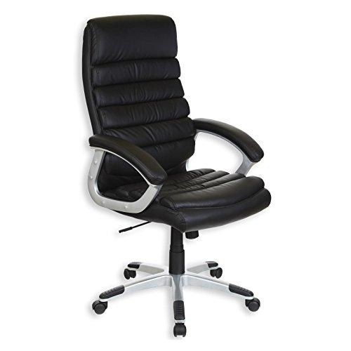 IDIMEX Chefsessel Bürodrehstuhl Drehstuhl Bürostuhl KING, mit Armlehnen, höhenverstellbar, schwarz
