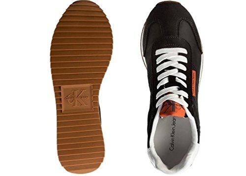 Calvin Klein Jeans Graph Nylon/Suede, Sneakers Basses Homme Noir (Blk 000)
