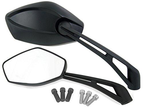 Universal Motorrad Rückspiegel Spiegel Set, CE geprüft, 2xM10 und M8 Rechtsgewinde + 1x M10/M8 Linksgewinde