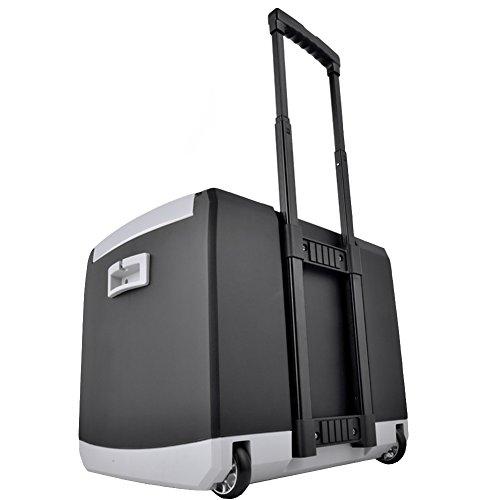 Liqicai frigo portatile casella draw-bar su ruote 12v dc (auto)/24 v cc (camion)/230 v ac (casa) (colore : nero, dimensioni : for car+home)