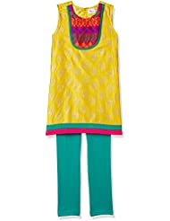 Elaisha Girl's Regular Fit Salwar Kurta Set