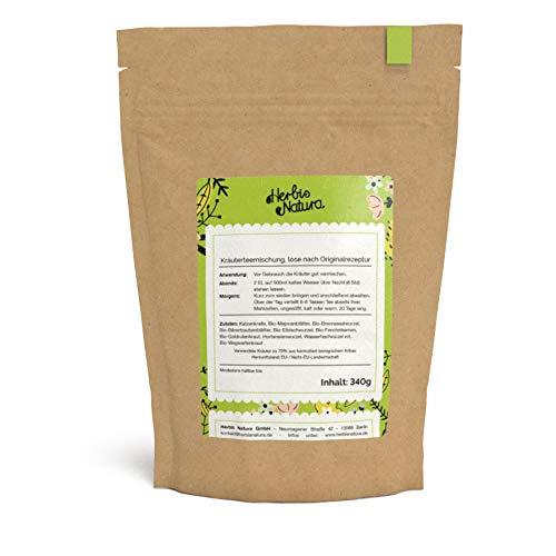 Herbis Natura Teemischung zur Unterstützung der Nierenfunktion, loser Tee, Kräutermischung aus 70 % Bio-Kräutern, Nierentee, Originalrezeptur, Tee-Kur für 20 Tage, 340 g