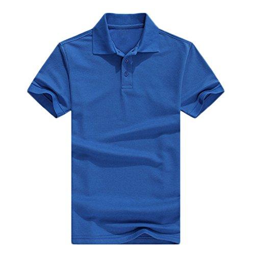 Demarkt Poloshirt Polohemd T-Shirts für Sport Freizeit und Arbeit Baumwolle Dunkelblau 2XL Dunkelblau x S