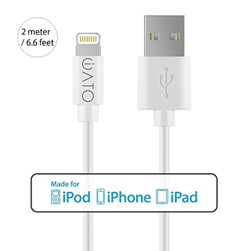 Apple MFi Certified Lightning to USB Cable. iATO Charging Lead Strong Quick Fast Charge Data Sync Wire iPhone 7 & 7 Plus 6 / 6s & 6/6s Plus SE 5s 5c 5 iPad mini Air Pro iPod Nano Touch Gen Generation Cord. 2 METER / 6.6 FT