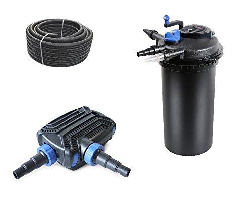 bio-set-filtro-per-laghetto-cpf-15000-pressione-con-tubo-pompa-per-laghetto-per-laghetti-e-uvc-chiar