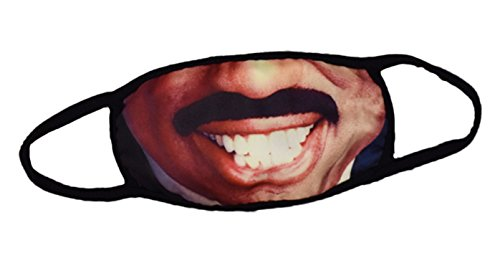 RuiXie Unisex Coole 3D Druck Mund Maske - Hip-HOP Strasse atmungsaktiv Baumwolle Anti Staub Kälteschutz Gesichtsmaske Kälteschutz Gesichtsmaske lächelndes Gesicht Y1898-01