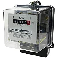 BeMatik - Current electricity meter single phase alternating 20A 230V 50Hz 80A max transparent plastic.